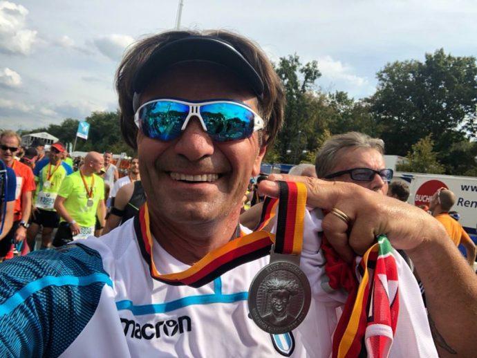 Massimo Bozzo di Atletica il Campanile alla Maratona di Berlino 2018