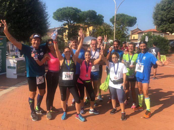 Gli atleti del Campanile che hanno partecipato alla Corri Cures 2018
