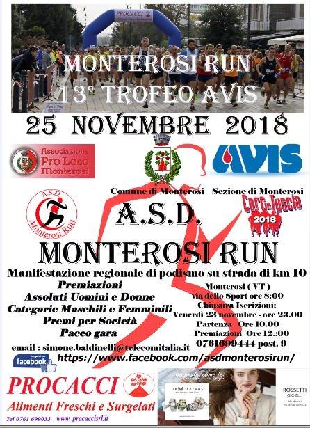 Locandina della Monterosi Run 2018