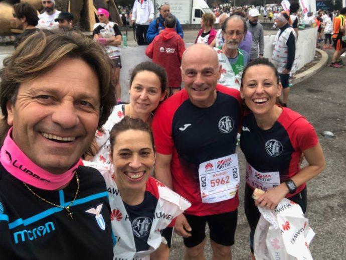 Massimo Bozzo, Paola de Luca, Maurizio Barone, Monica Paternesi e Lucia Ciufolini alla Roma-Ostia 2019