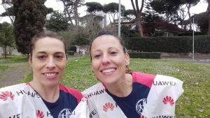 Monica Paternesi e Lucia Ciufolini alla Roma-Ostia 2019