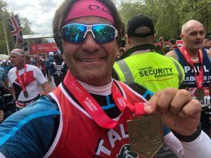 Aldo Monteleone e Massimo Bozzo alla Maratona di Londra 2019