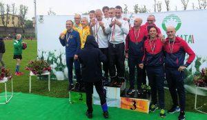 Angelo Pucciarmati, Alfredo Graziosi, Andrea Paternesi e Tiziano Pompili ai Campionati Italiani Master 2019 staffetta 4x1500